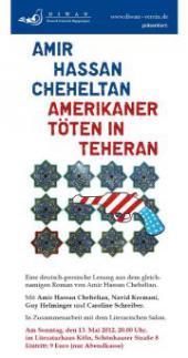 """Der iranische Autor Amir Hassan Cheheltan list in Köln aus seinem Roman """"Amerikaner töten in Teheran"""""""